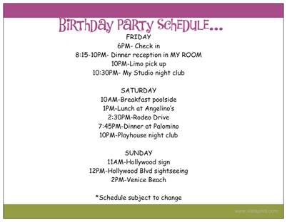 birthday party my blog