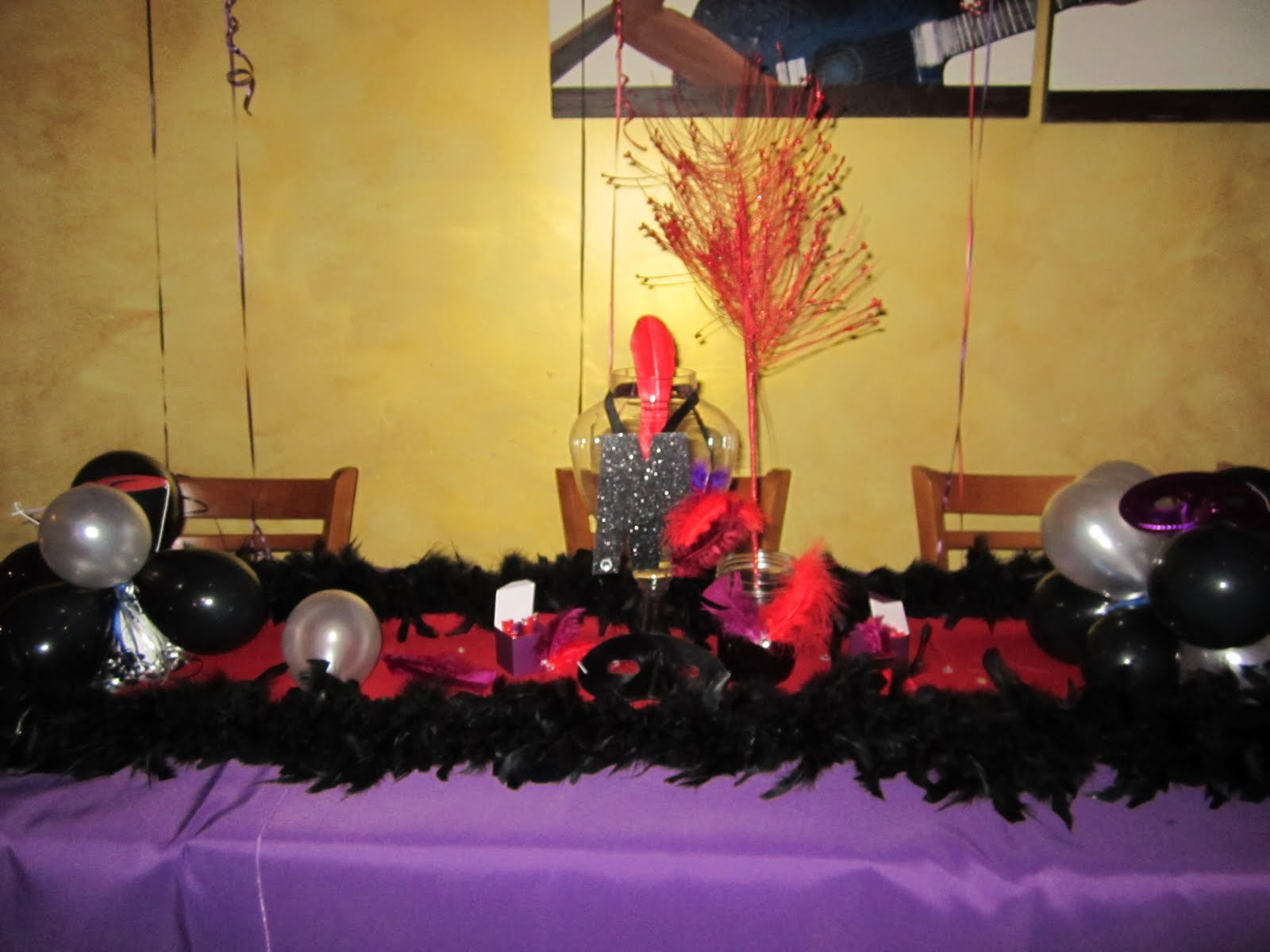 How To Decorate a Birthday Dinner: Red, Purple, & Black theme | My ...